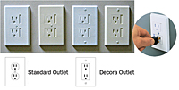 Child-Safe Electrical Outlet Cover by Safety Innovations, 6 pk.