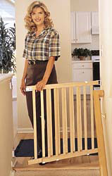 "Wood Slat Baby Gate  28""-42""W x 30""H by Evenflo"