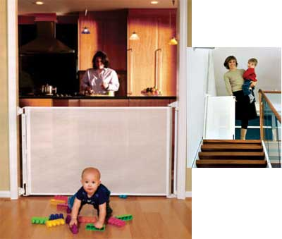 "Lascal Kiddy Guard Retractable Child Safety Gate  Fits Openings up to 51"" wide, 32"" high"