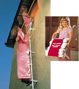 Three-Story Fire Escape Ladder