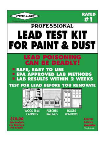 Lead Test For Paint   Dust