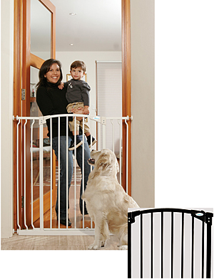 "Tee Zed Extra Tall Walk-Thru Baby Safety Gate  38""-53""W x 39""H"