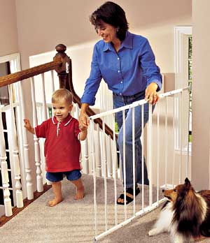 "Kidco Safeway Baby Gate  (Black or White) - 24 3 4"" to 43 1 2"", 30 1 2"" high Extensions available"