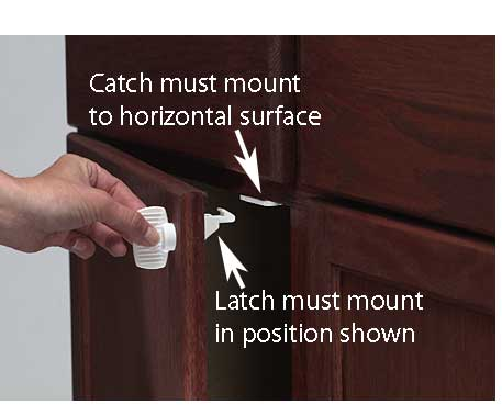 Adhesive Mount Magnet Lock 4-Pack