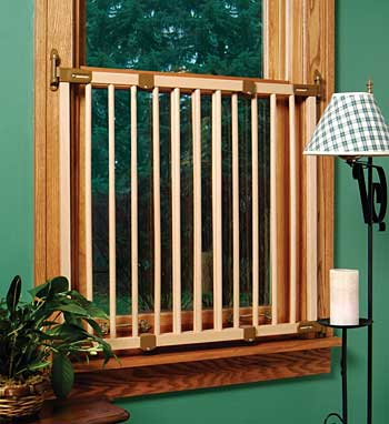 Extra Tall Wood Window Barrier From Kidco