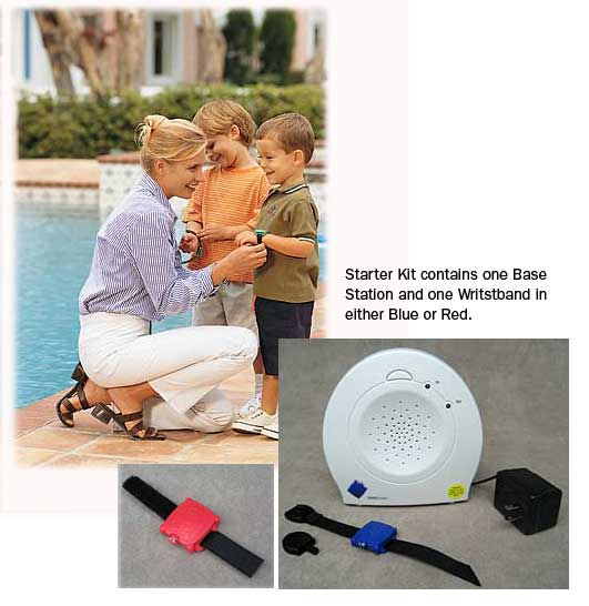 Safety Turtle Pool Alarm Starter Kit (contains one Base Station and one Wristband)