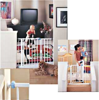 Auto-Close Auto-Locking Baby Gate