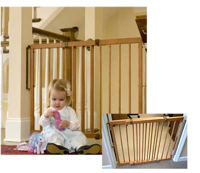 Lascal Baby Gate on Cardinal Gates Wood Stairway Special Child Safety Gate 29 1 2  49 1 2