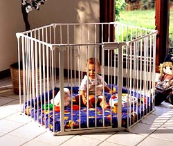 """PlayDen Play Yard with Padded Floor 144""""L x 29 1 2""""H"""